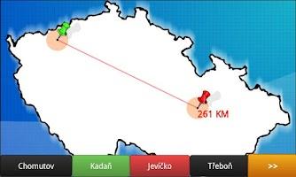 Screenshot of Blank map Czech republic BETA