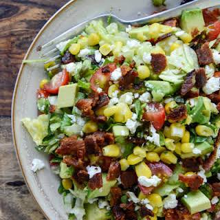 BLT Chopped Salad with Corn, Feta + Avocado.