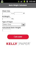 Screenshot of Kelly Paper Basis Weight Calc