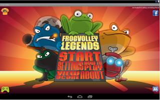 Screenshot of Frog Volley
