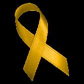 Yellow Awareness Ribbon Clock