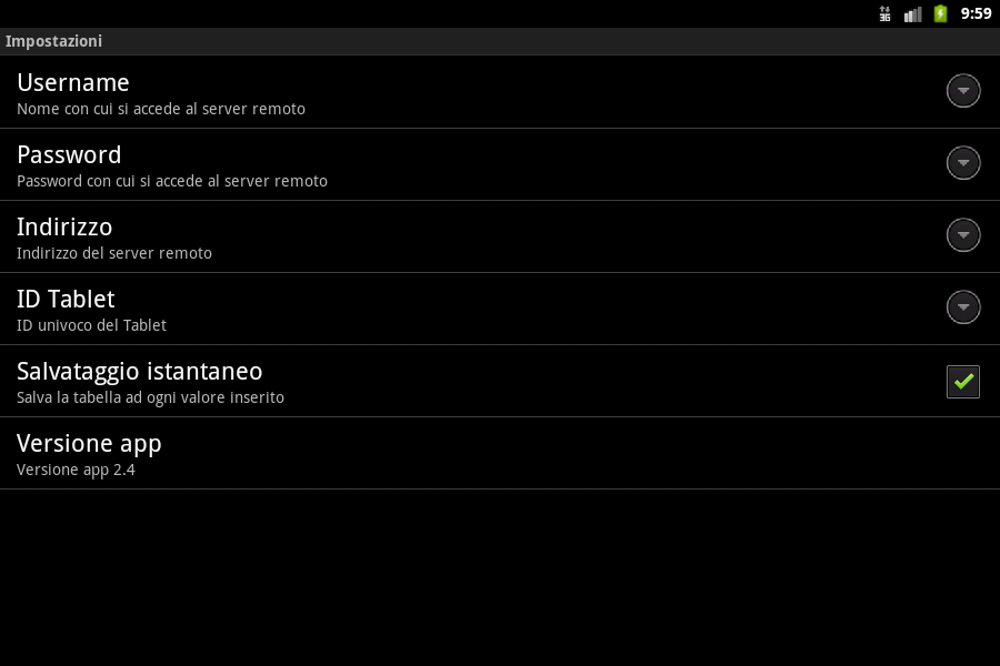 Gestione Inventario - screenshot