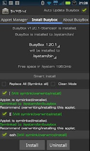 BusyBox Capture d'écran