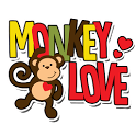 Monkey Love Go Launcher icon