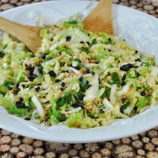Napa Cabbage Salad with Toasted Almonds.
