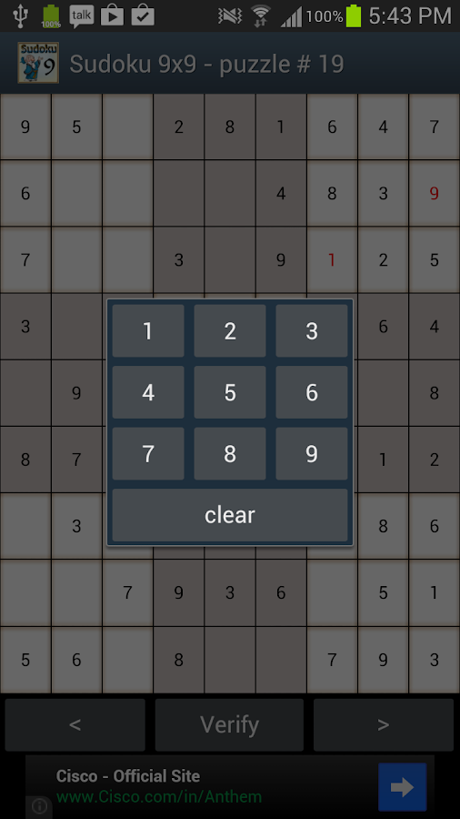Sudoku 9x9- screenshot