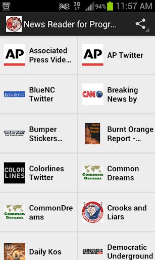 News Reader for Progressives