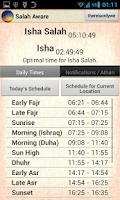 Screenshot of Salah Aware: Prayer Times