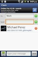 Screenshot of Ciacs Contact Sender