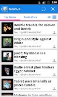 Screenshot of South Africa News