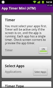 App Timer Mini (ATM) - screenshot thumbnail