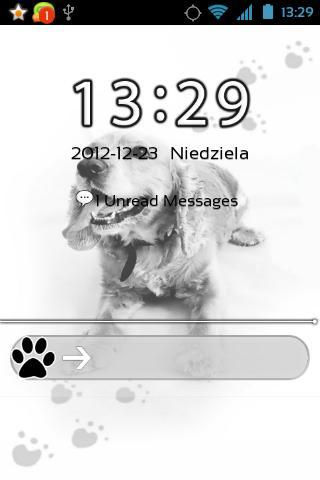 可爱的狗GO锁屏主题
