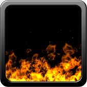 Fire in device wallpaper