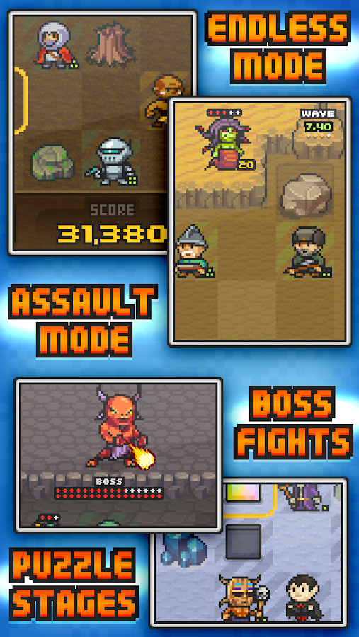 Pixel Defenders Puzzle DEMO - screenshot
