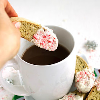 White Chocolate Peppermint Biscotti