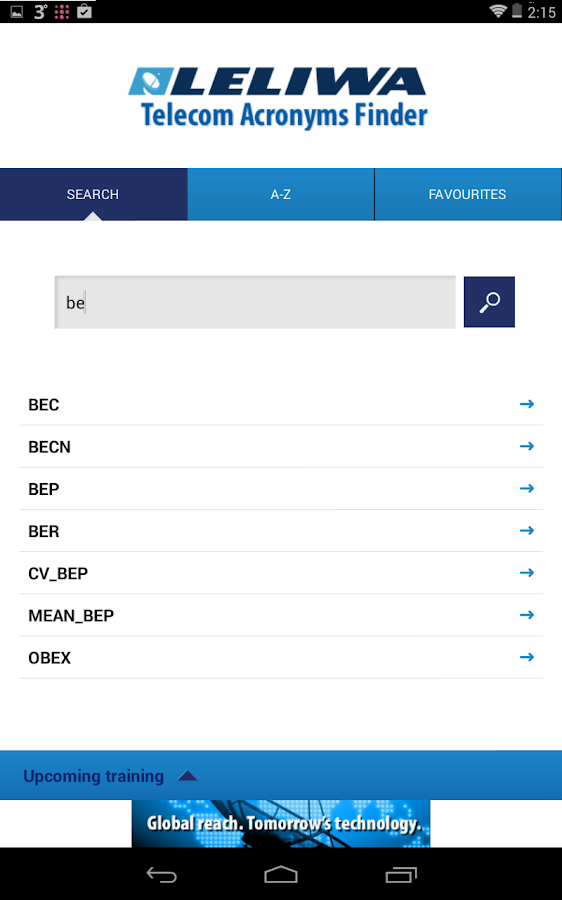 Telecom Acronyms Finder Leliwa- screenshot