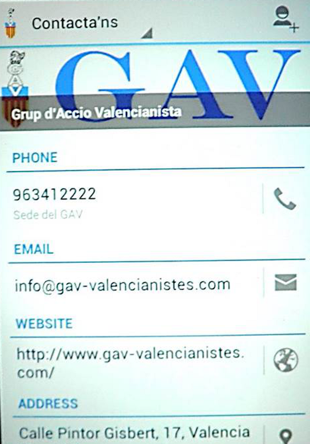 GAV-Valencianistes- screenshot