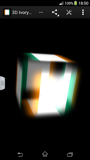3D Ivory Coast Cube Flag LWP