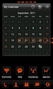 Clear Orange Theme GO Launcher - screenshot thumbnail