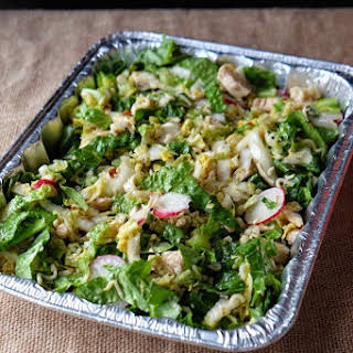 Potluck Asian Chicken Cabbage Salad.