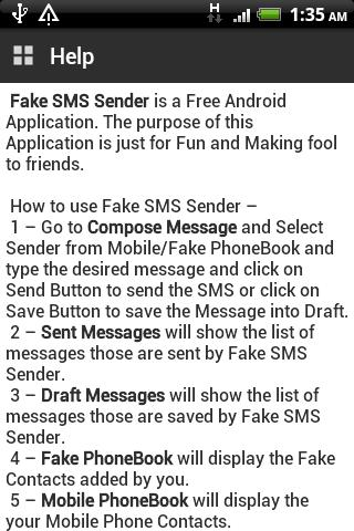 Fake SMS Sender- screenshot