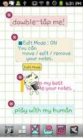 Screenshot of FooCat Notes Live Wallpaper