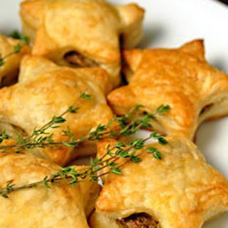 Mushroom Pate filled Puff Pastry Stars.
