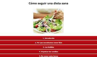 Screenshot of Cómo seguir una dieta sana