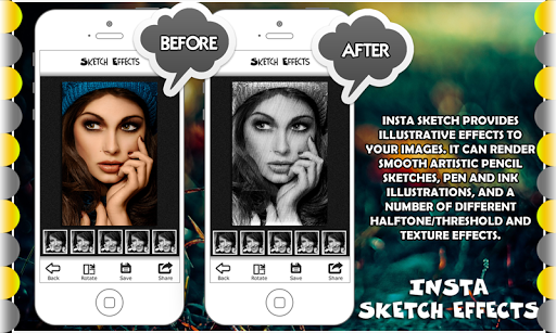 Pencil Sketch Photo Effects