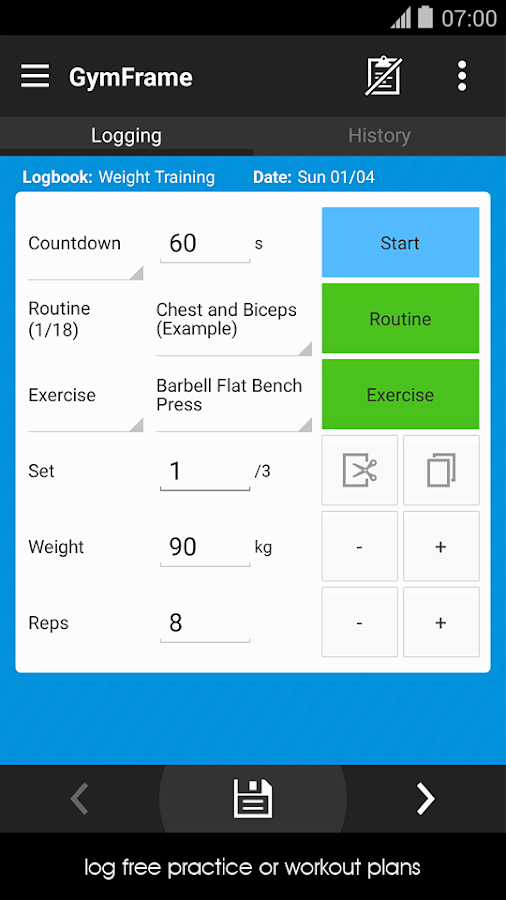 Gym Workout Log Book- screenshot