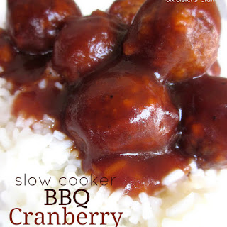Slow Cooker BBQ Cranberry Meatballs