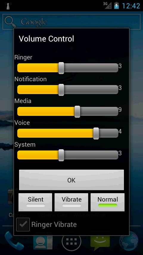 Volume Control - screenshot
