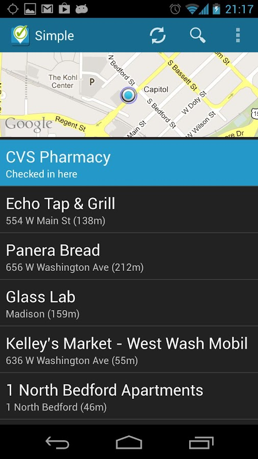 Simple Checkin for Foursquare - screenshot
