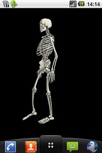 Funny dancing skeletonLWP FREE - screenshot thumbnail