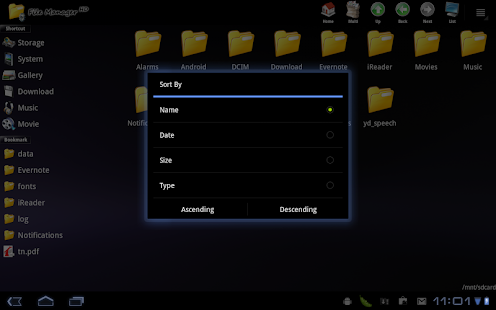 File Manager HD (Tablet) - screenshot thumbnail