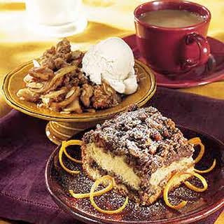 Sour Cream-Orange Coffee Cake with Chocolate-Pecan Streusel.