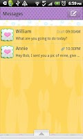 Screenshot of GO SMS THEME/ColorfulHearts