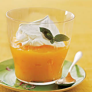 Citrus Pudding with Whipped Cream.