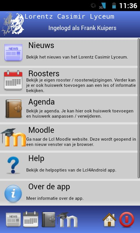 Lorentz Casimir Lyceum App- screenshot