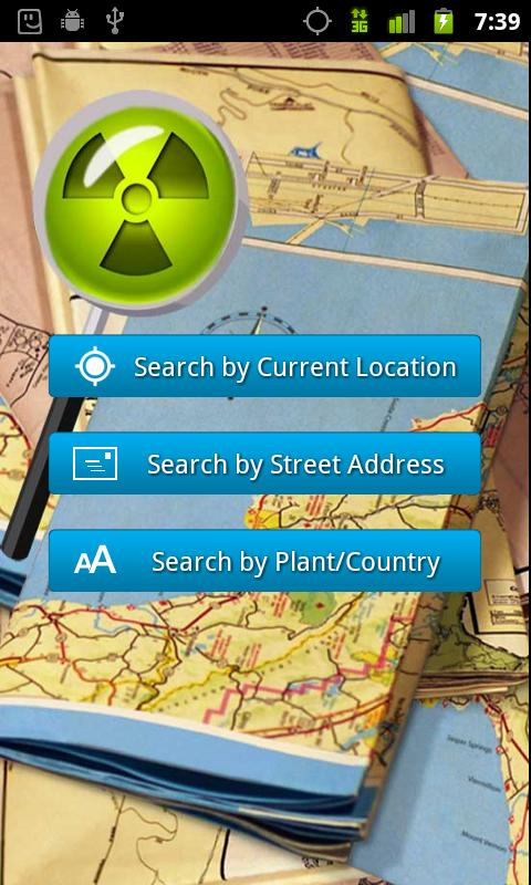 Nuclear Site Locator - screenshot