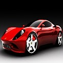 3D sports car logo