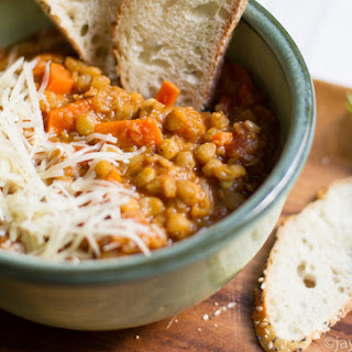 Hearty Lentil Soup with Tomatoes.