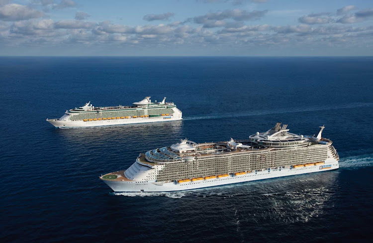 Both Independence of the Seas and her larger cousin, Oasis of the Seas, sail for the Caribbean out of Fort Lauderdale, Florida.