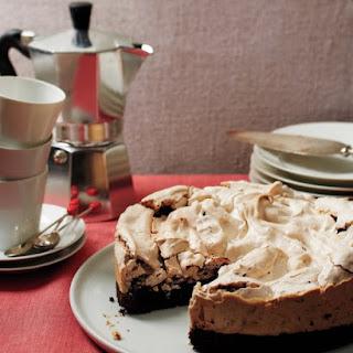 Peppermint-Meringue Brownie Cake