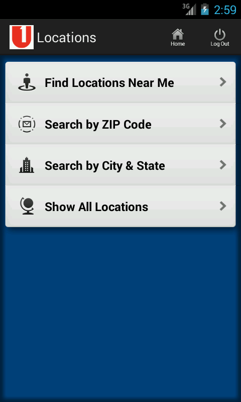 First United Android App - screenshot