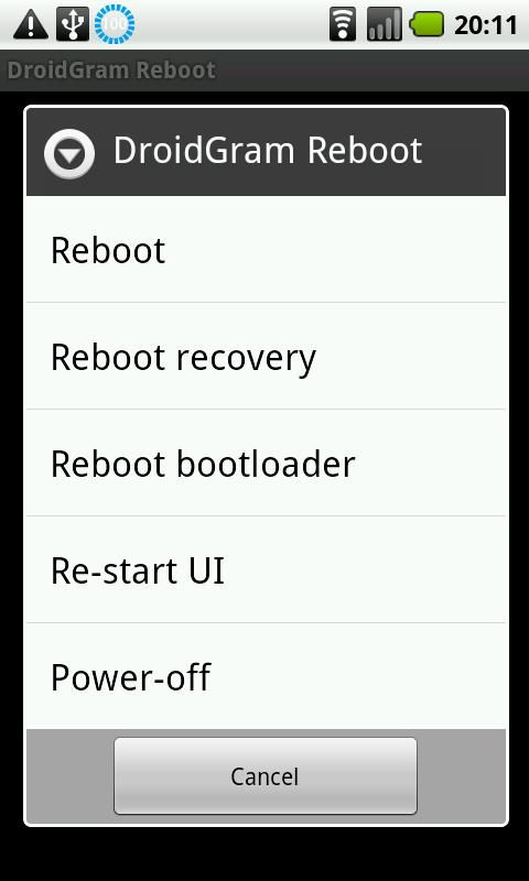 Fast Reboot (no ads)- screenshot
