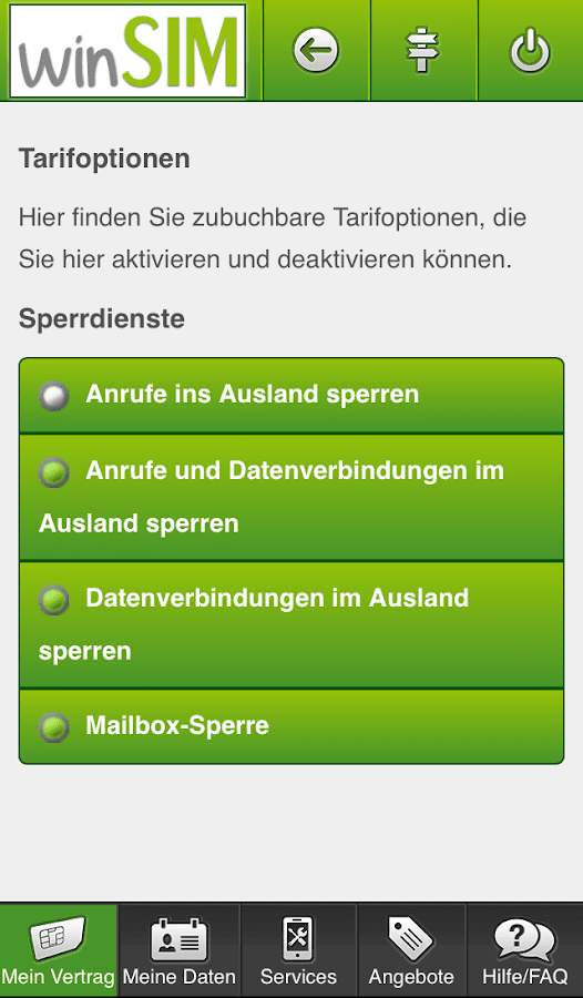 winSIM  Servicewelt- screenshot