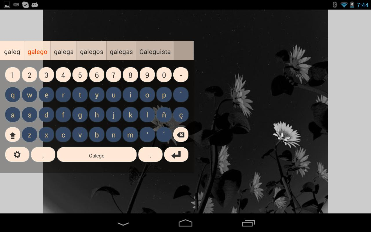 Galego Keyboard Plugin- screenshot