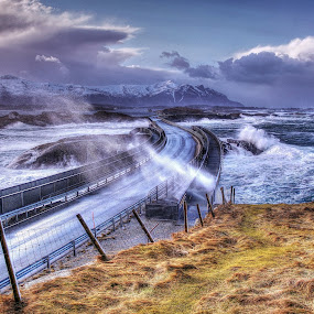 Atlantic road by Jan Helge - Buildings & Architecture Bridges & Suspended Structures ( wave, road, storm, atlantic, norway )