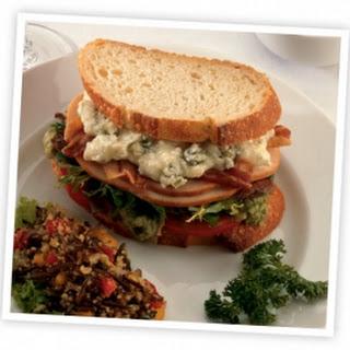 Smoked Turkey Cobb Sandwich with Blue Cheese Mayo